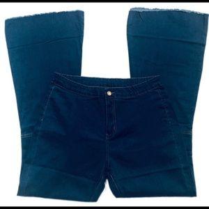 NWOT Bell Bottom Boho High Rise Pants Stretch